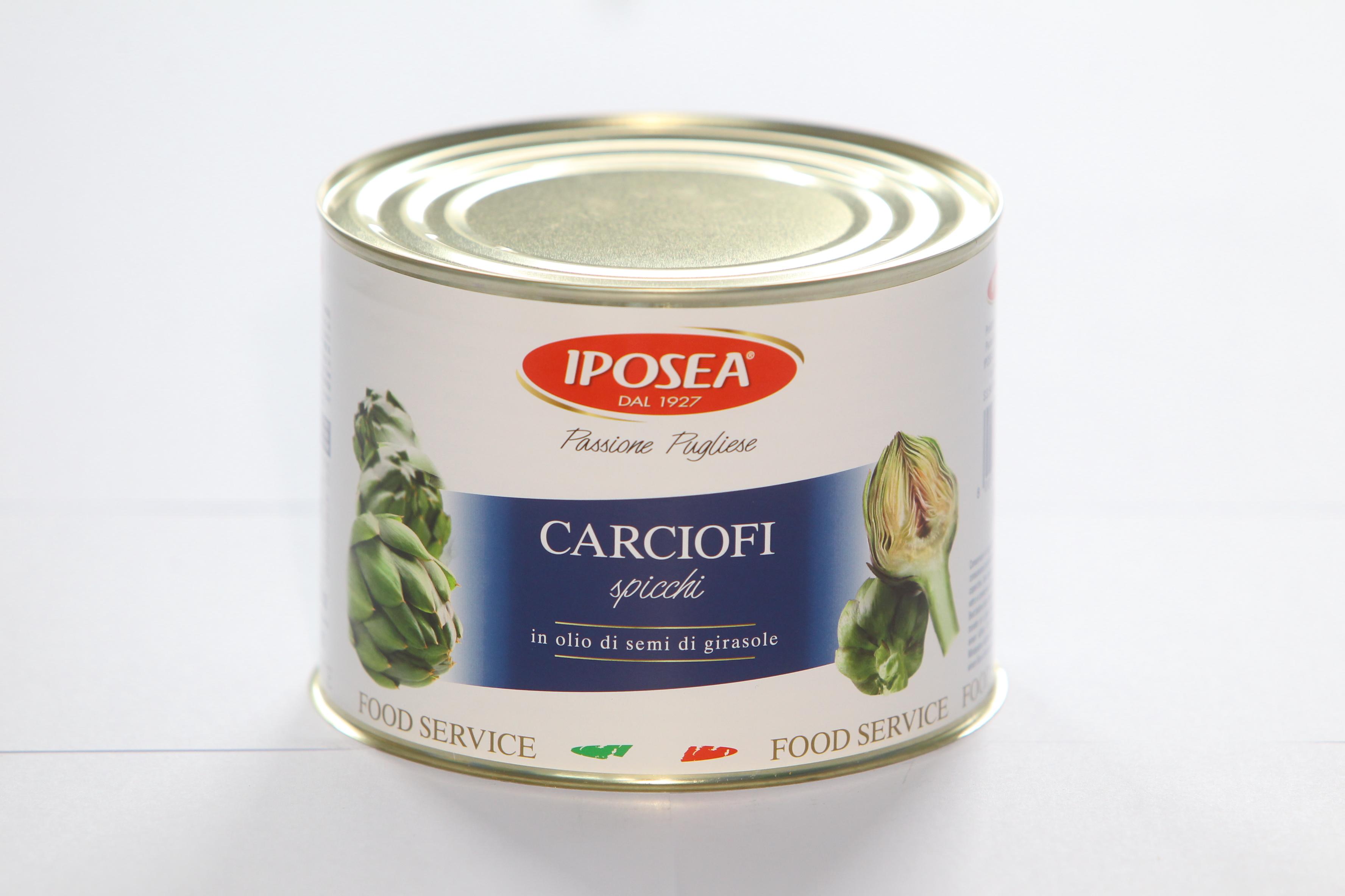 CARCIOFI A SPICCHI SOTTOLIO DA 2,2 KG