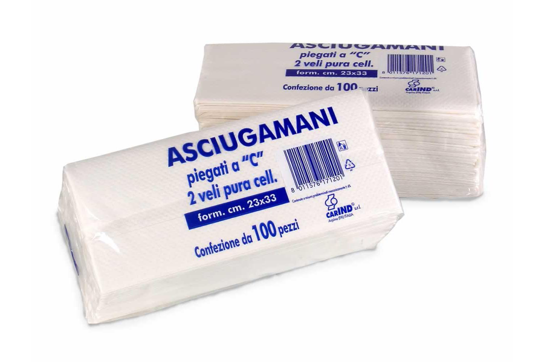 """ASCIUGAMANI PIEGATI A """"C"""""""