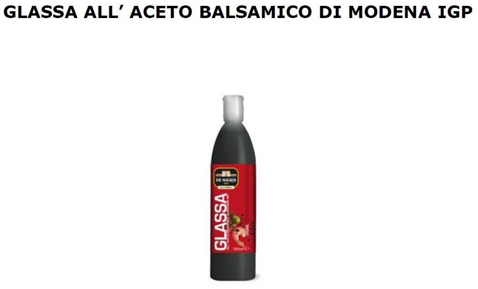GLASSA ACETO BALSAMICO DI MODENA IGP ML 500 DE NIGRIS